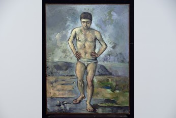 cezanne bather with white