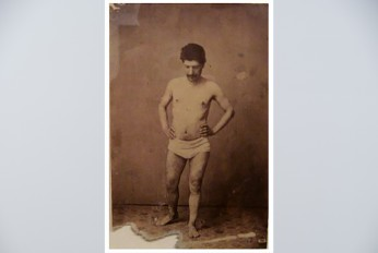 charcoal cezanne bather photo with white